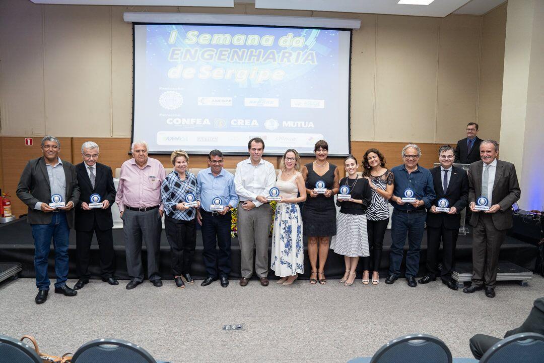 Homenagens marcam abertura da I SEMANA DA ENGENHARIA DE SERGIPE